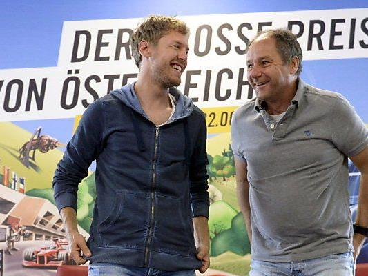 Vettel und Berger beim Gedankenaustausch