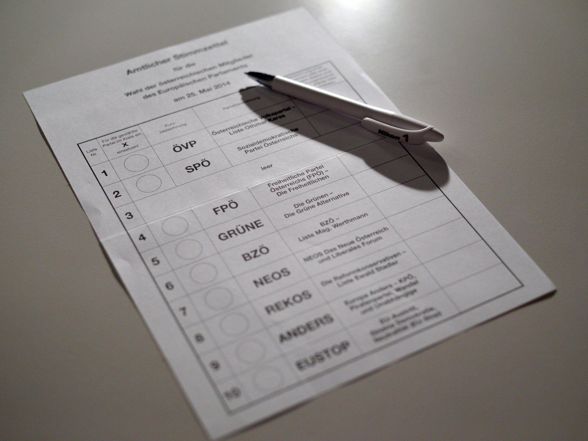 Europawahl: Die FPÖ profitierte vom Nicht-Antreten der Liste H.P. Martin bei der heurigen Wahl.