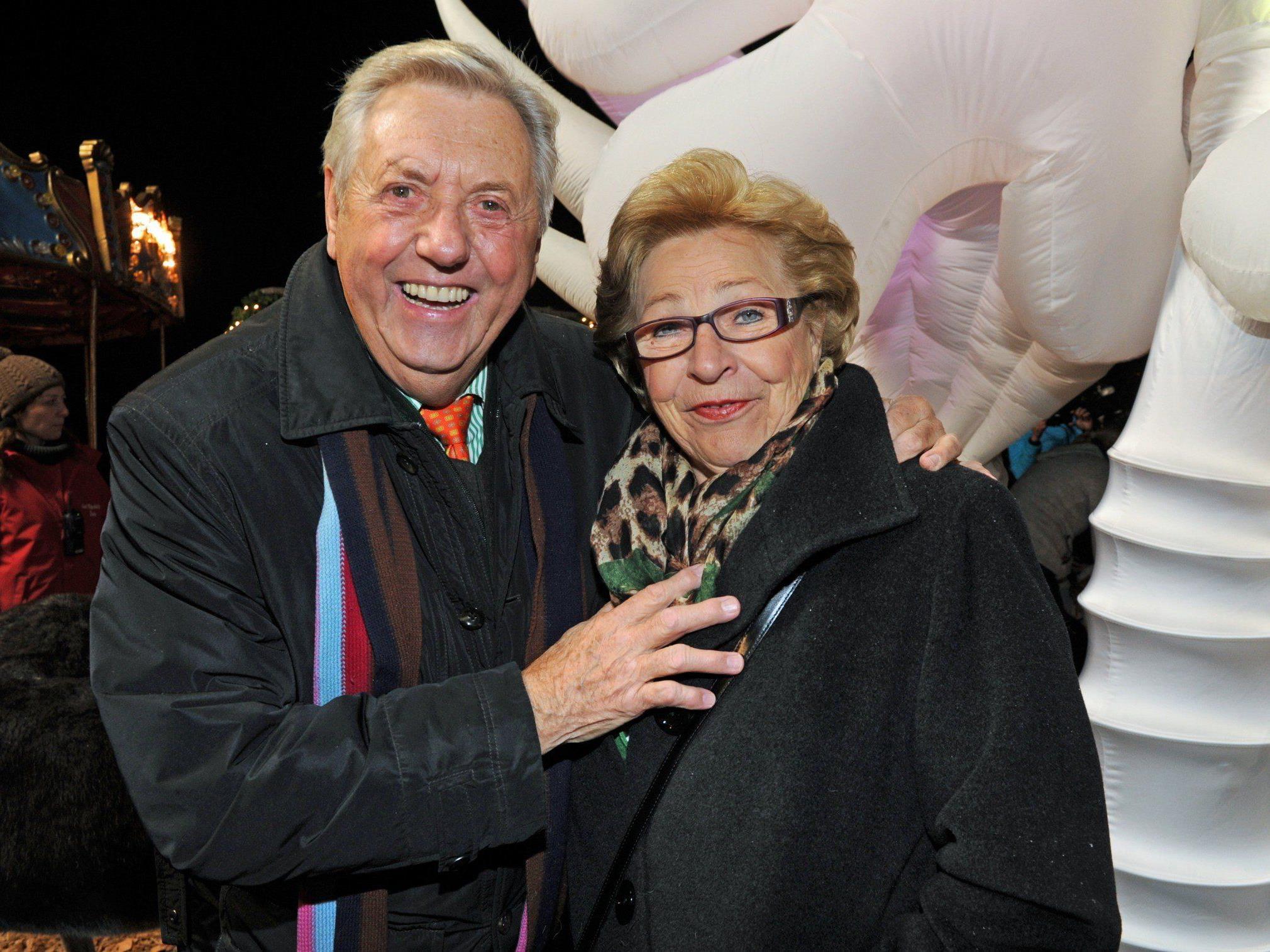 Karl Moik und seine Ehefrau Edith.