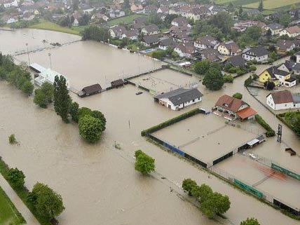Unwetter im Osten: Überschwemmungen in Österreich