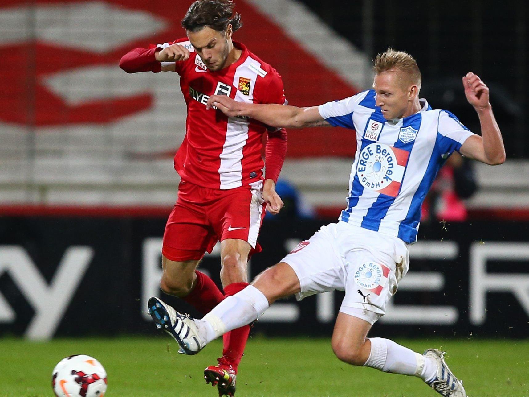 LIVE-Ticker zum Spiel SC Wiener Neustadt gegen FC Admira Wacker Mödling ab 18.30 Uhr.