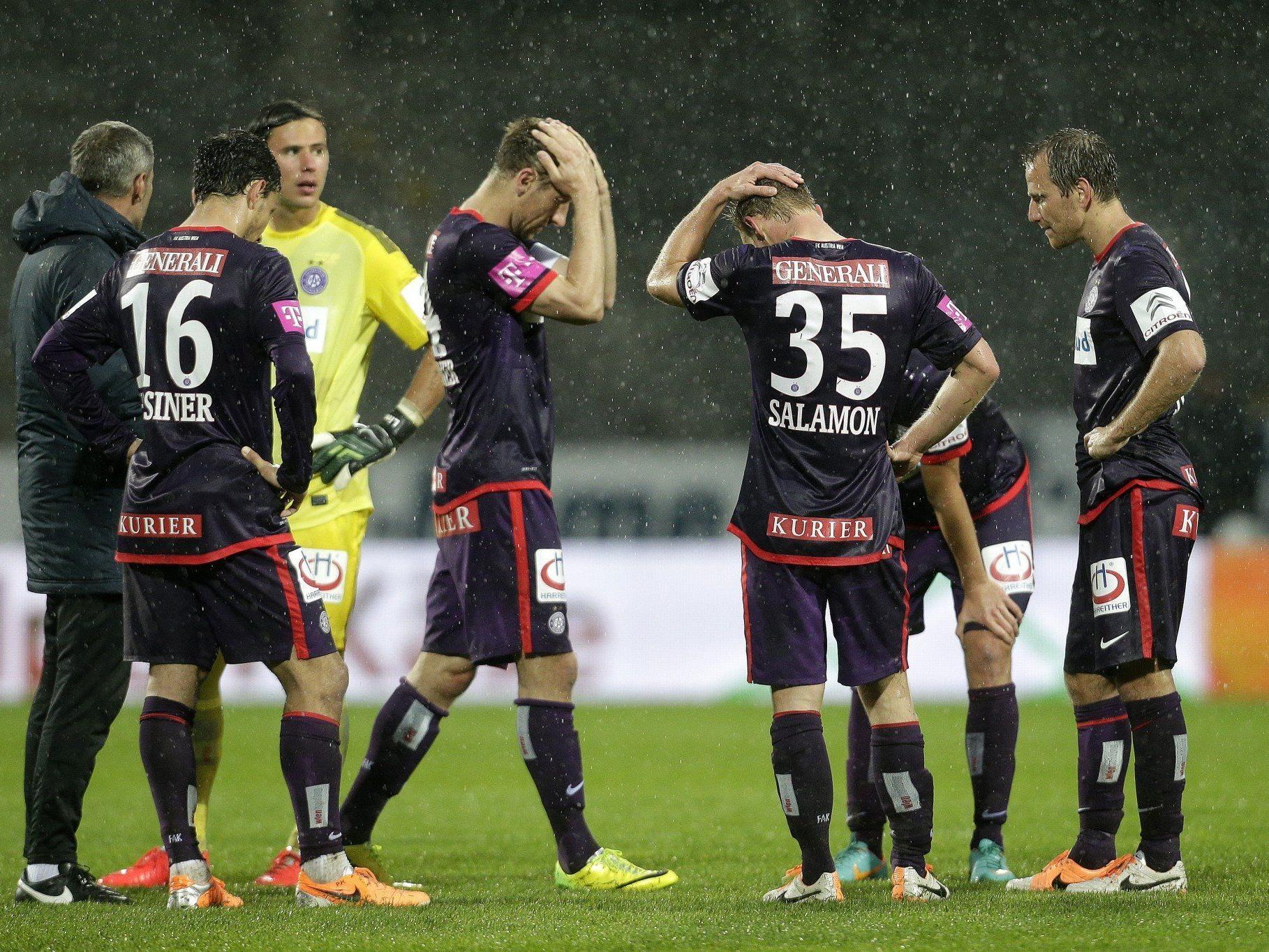 Austria Wien spielt in der kommenden Saison nicht im Europacup.
