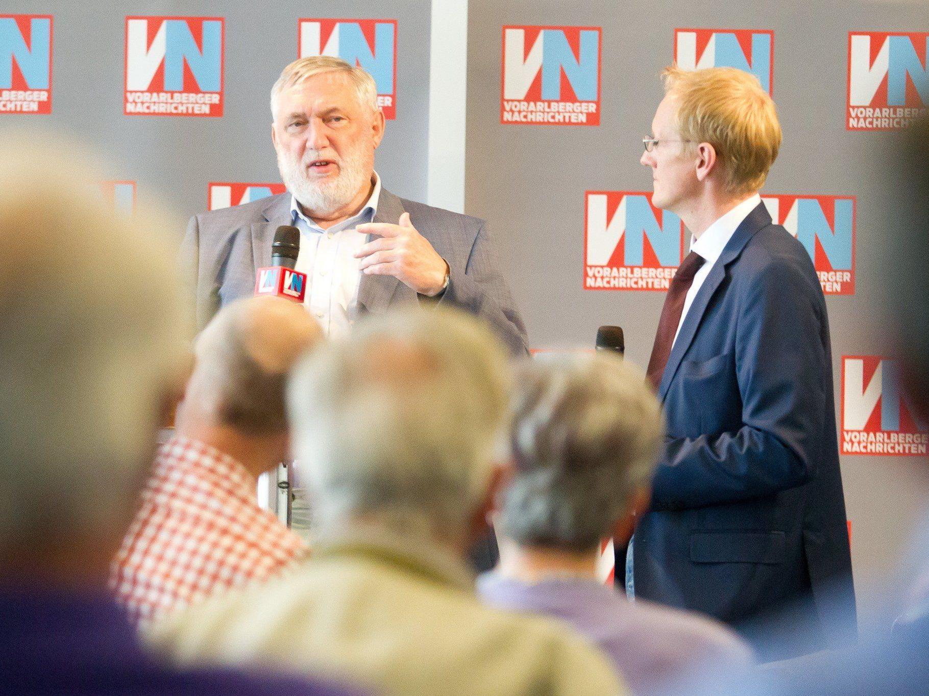 Franz Fischler vergangene Woche bei den VN: Sieht seine Skepsis gegenüber dem Freihandelsabkommen bestätigt.