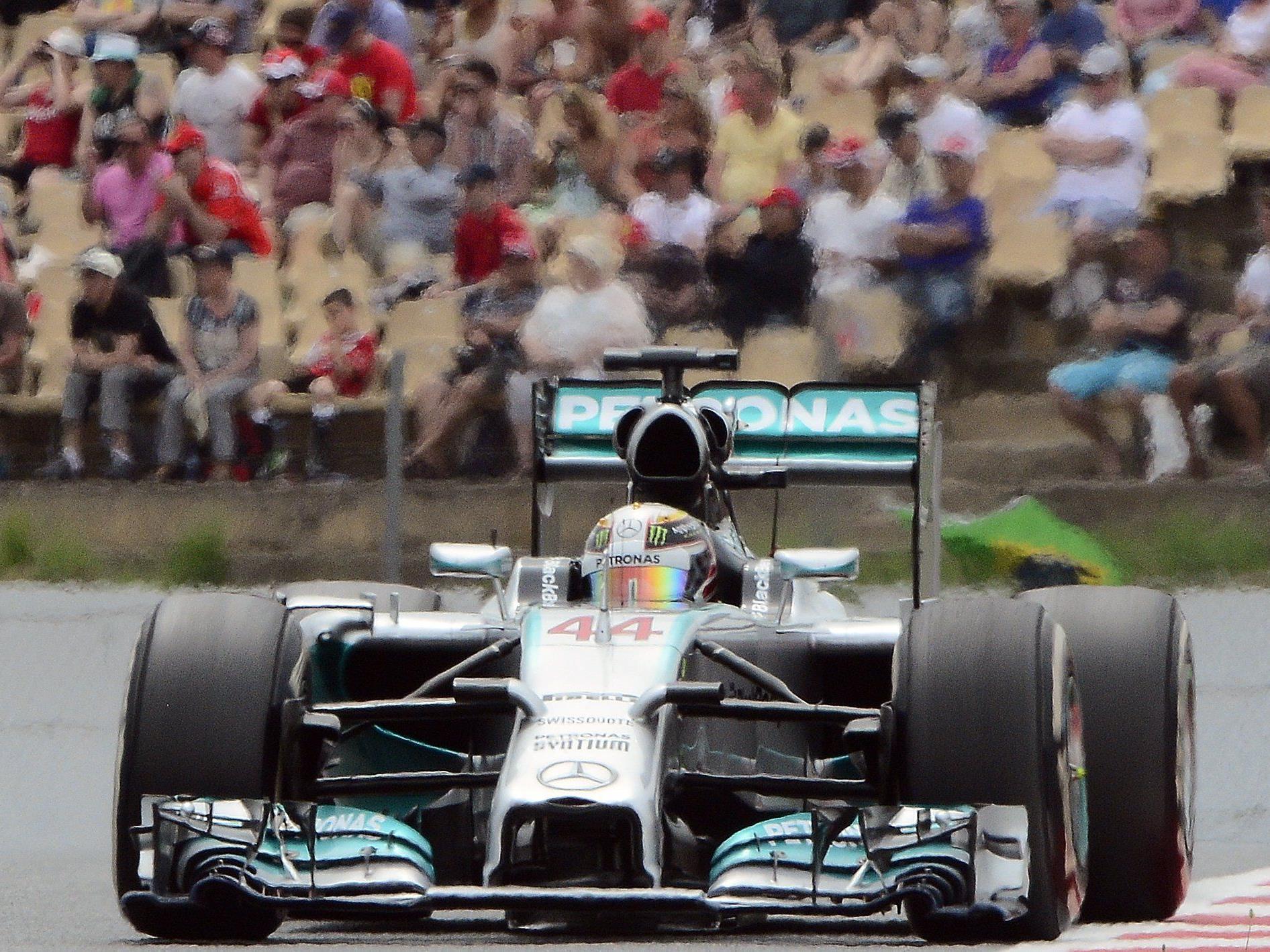 Brite übernahm WM-Führung - Rosberg beim Spanien-GP zum 4. Mal in Folge hinter Teamkollegen.