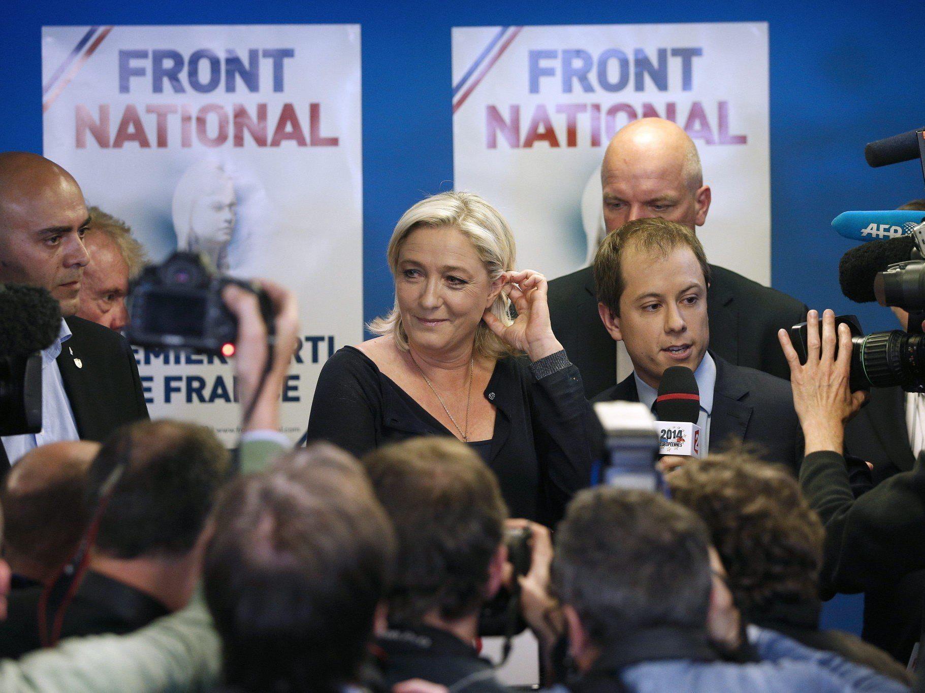 Rechtsruck bei EU-Wahl: Front National (Frankreich) auf Platz 1.