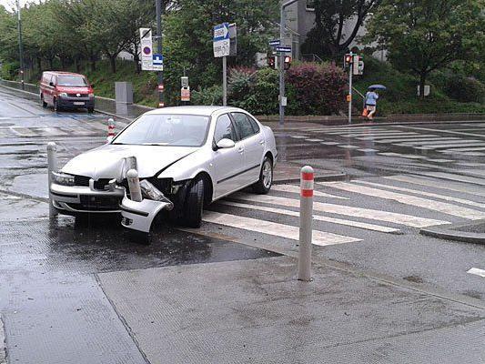 An der Unfallstelle in Wien-Ottakring
