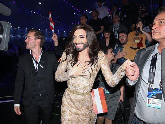Geschafft in Kopenhagen: Conchita Wurst im Song Contest-Glück