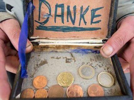 """Maximal 20 Euro am Tag """"verdient"""" ein Bettler in Wien."""