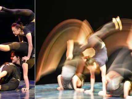 """Artistinnen des """"Cirque du Soleil"""" bei einer Probe in Wien."""