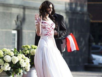 Für Österreich tritt heuer Conchita Wurst beim Song Contest an.