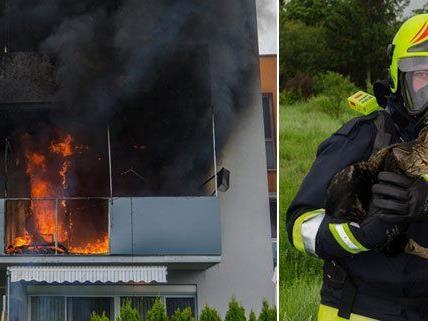 Einsatz beim Brand in Guntramsdorf