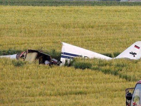 Drei Tote bei Flugzeugabsturz in Bayern.