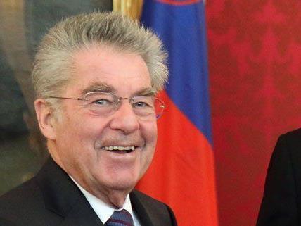 Der Bundespräsident freut sich über die österreichischen Sieg.
