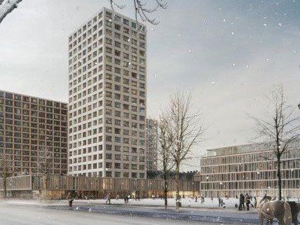 So soll das neue Hochhaus in Wien aussehen.