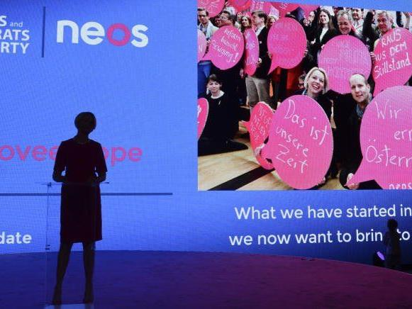 Im Bild: NEOS-Spitzenkandidatin für die EU-Wahl Angelika Mlinar.