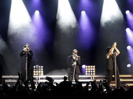 Die gealterte Boyband beim Wien-Konzert am Donnerstag.
