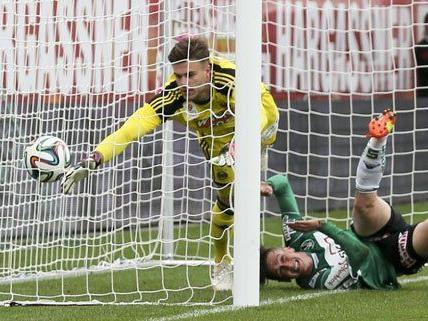 Rapid erzielte fünf Tore gegen Ried.