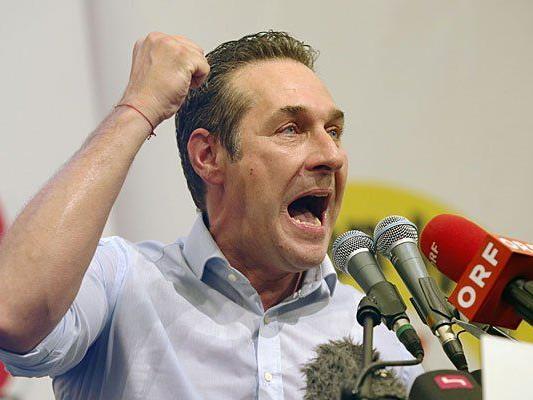 FPÖ-Parteichef Heinz-Christian Strache beim Auftakt zum EU-Wahlkampf