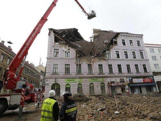 Hauseinsturz in Wien - Gebäude wird voraussichtlich saniert