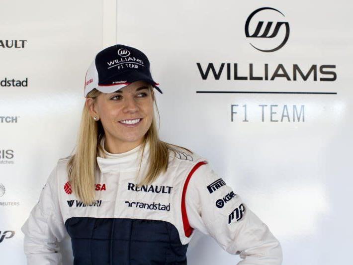 Susie Wolff, die Ehefrau von Mercedes-Motorsportchef Toto Wolff, kam im Williams auf Rang fünf