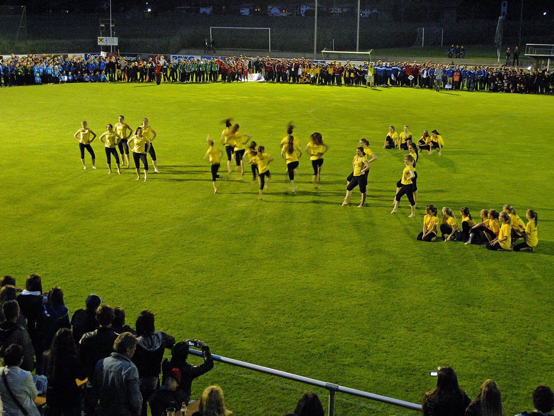 Eröffnung der Montafon Alpine Trophy im Fußballstadion Aktivpark Montafon im vorvergangenen Jahr