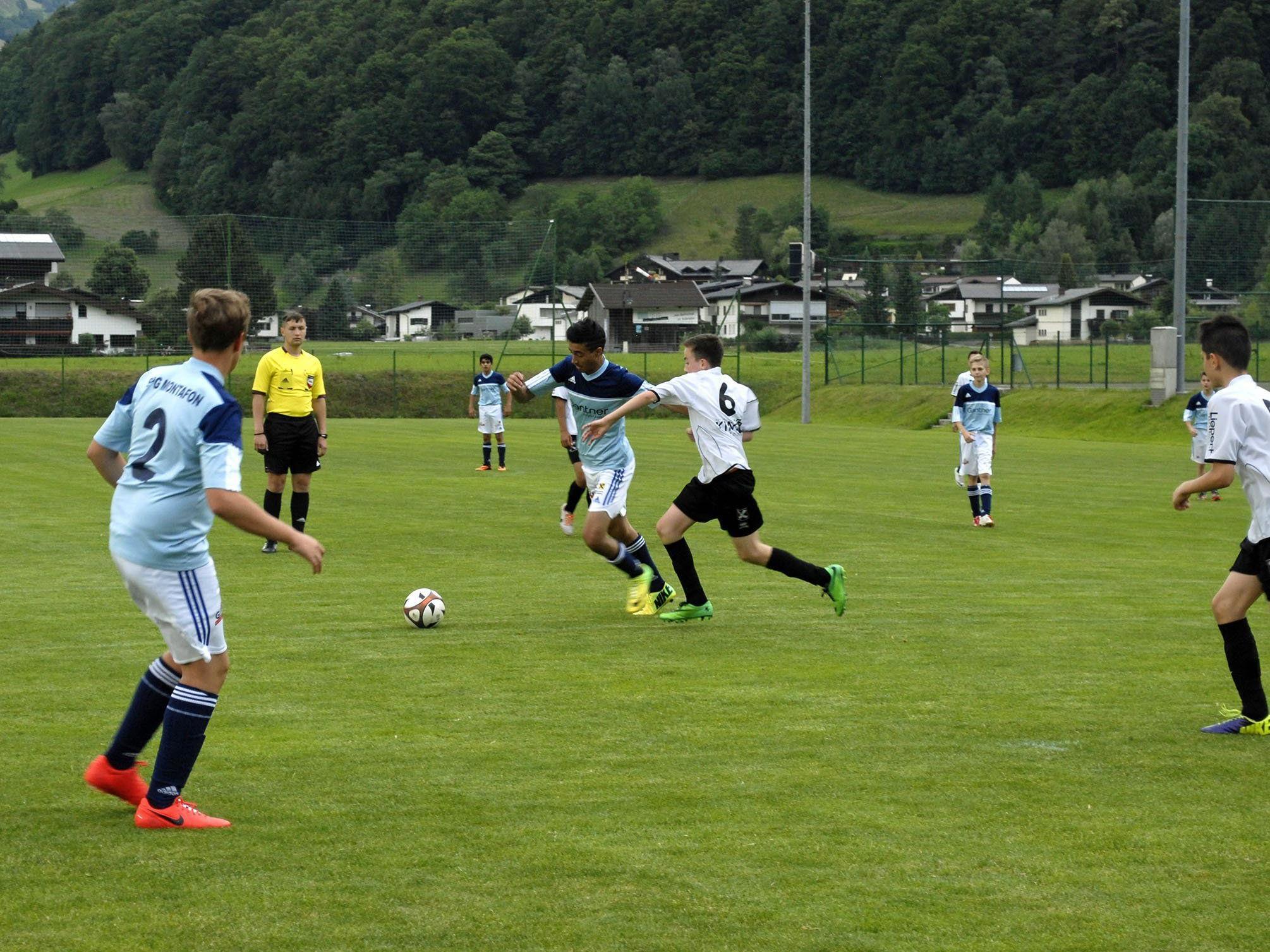 6:1 endete das U14-Spiel der SPG Montafon gegen ihre Alterskollegen aus Bludenz.