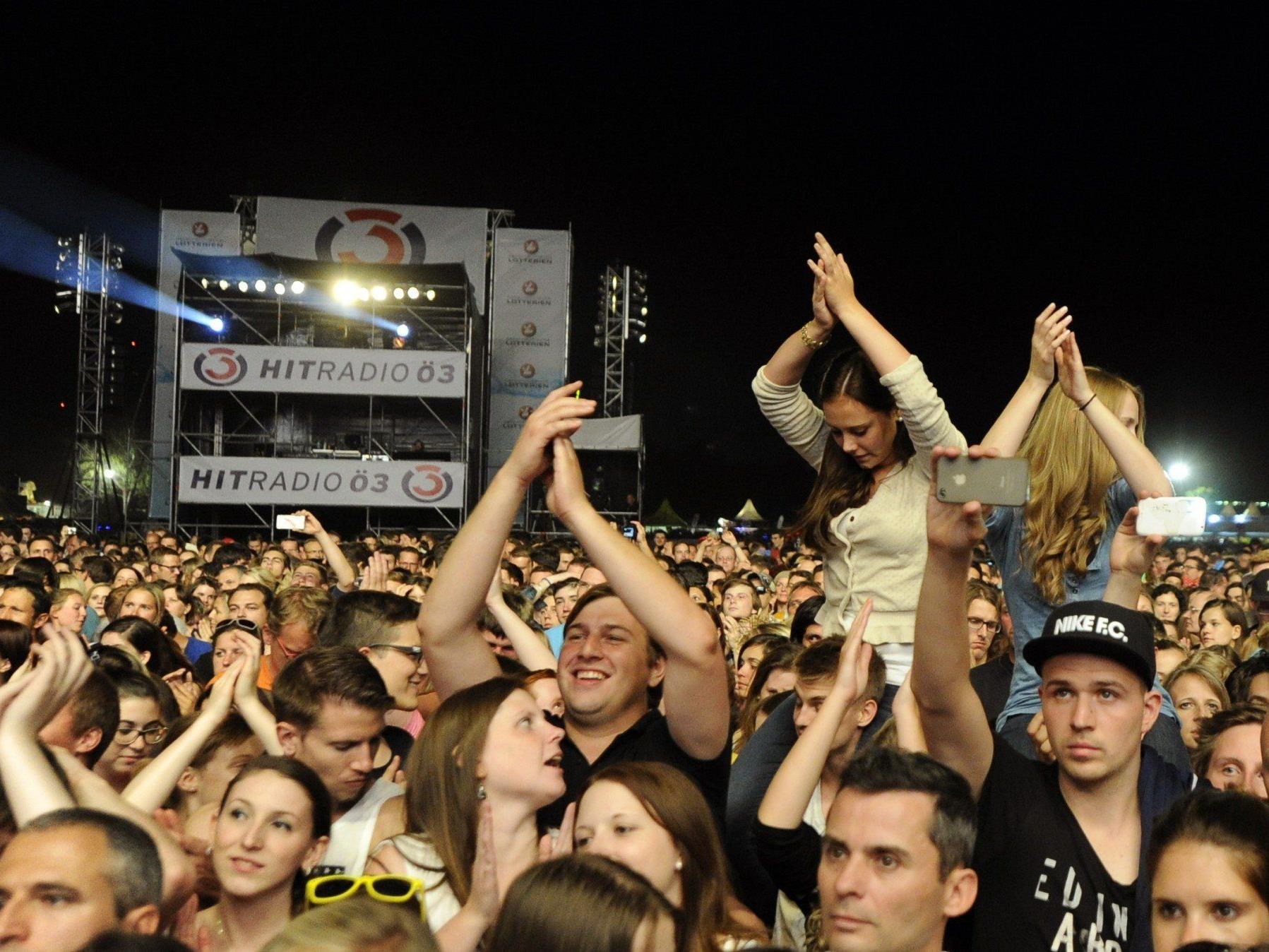 Am Samstag besuchten 1,1 Millionen Menschen das Donauinselfest 2014.
