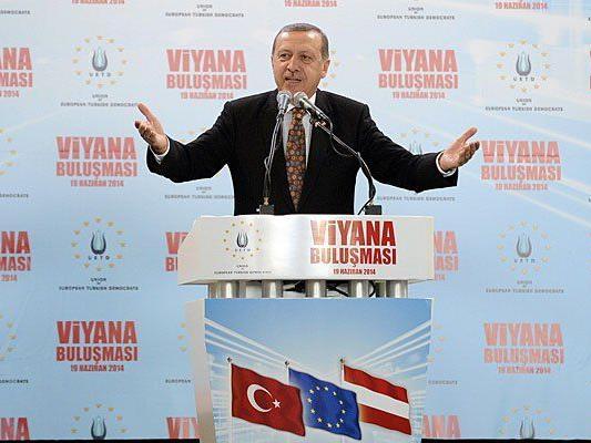 Erdogan bei seiner Rede in Wien