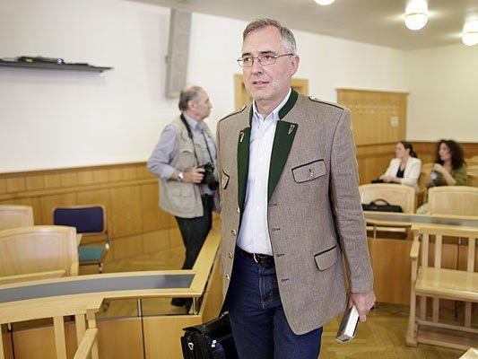 Beim Prozess gegen Ewald Stadler