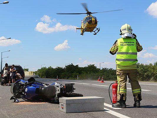 An der Unfallstelle auf der A21
