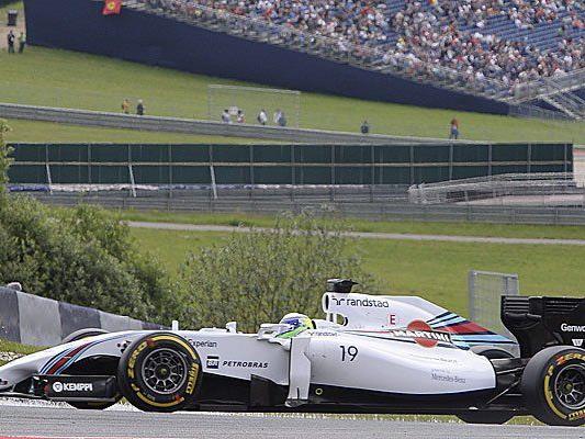 Bottas hauchdünn vor Hamilton und Williams-Teamkollege Massa.