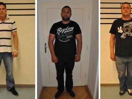 Diese drei Männer wurden festgenommen.