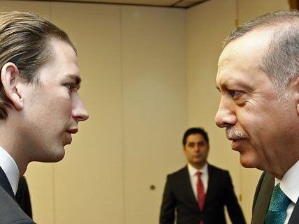Sebastian Kurz beim Treffen mit dem türkischen Ministerpräsidenten Recep Tayyip Erdogan in Wien