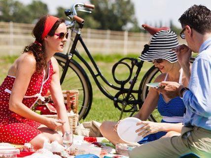 Am Sonntag findet zum dritten Mal das Fahrrad-Picknick auf der Rennbahn Freudenau statt.