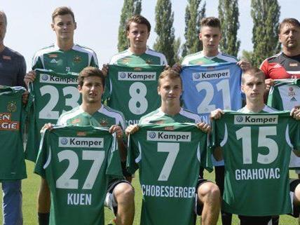Rapid Wien startete am Mittwoch mit sechs Neuzugängen ins Training.