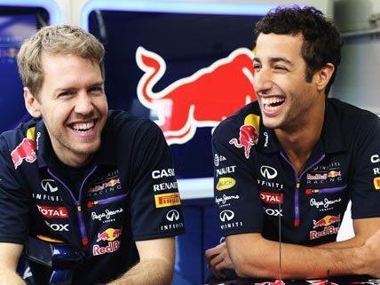 Sebastian Vettel und Daniel Ricciardo sind am Mittwoch in Wien.