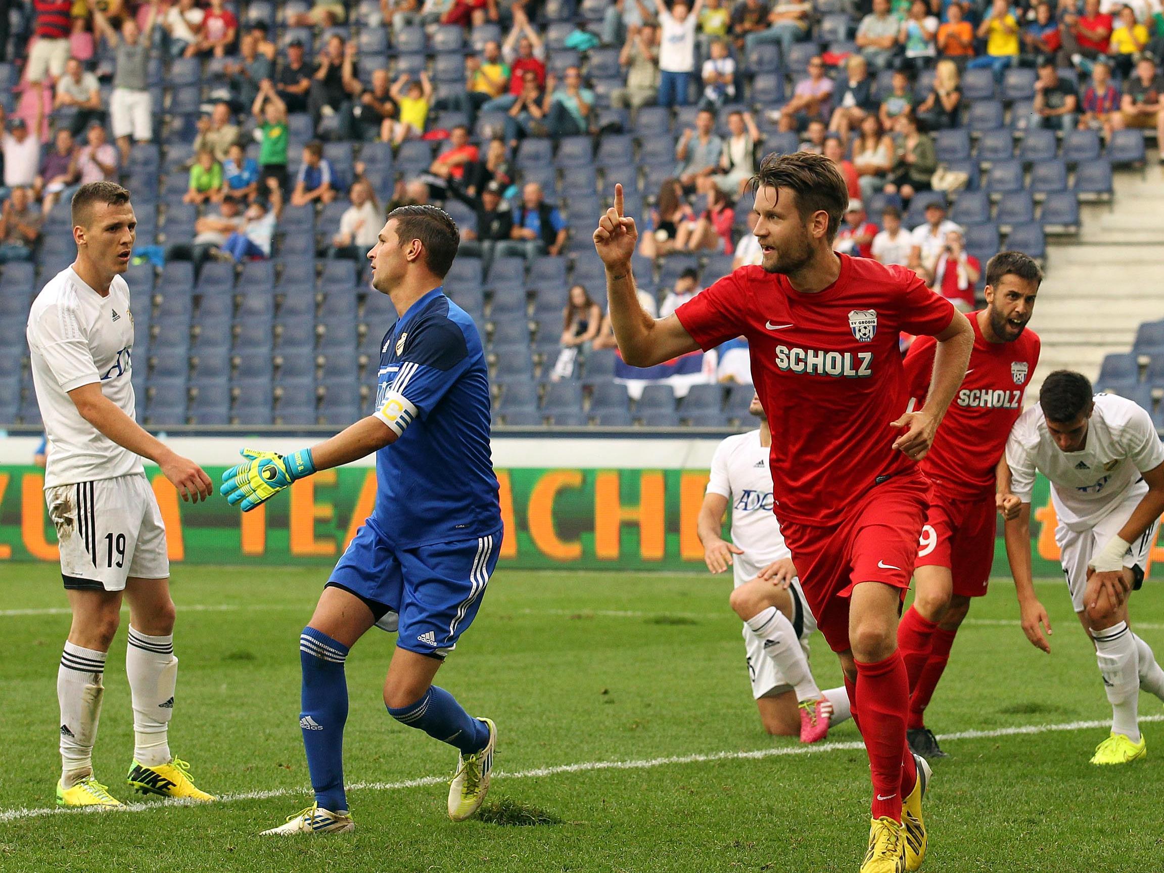 Grödig konnte sich in der 2. Runde der Europa League-Qualifikation durchsetzen.