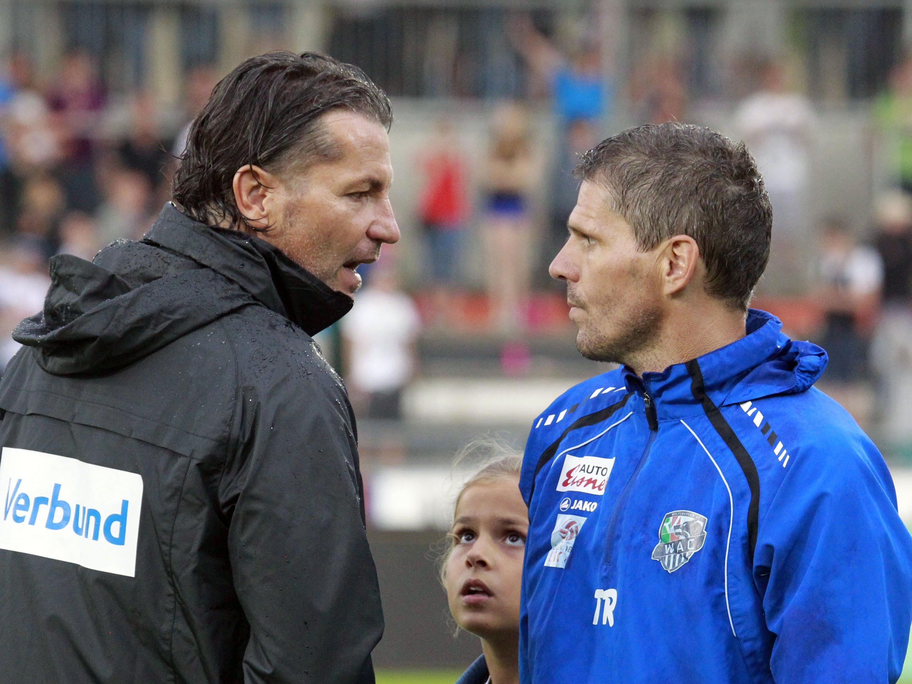Baumgartner und Kühbauer: Die austria schlitterte in ein Debakeln, WAC startet stark in die neue Saison.