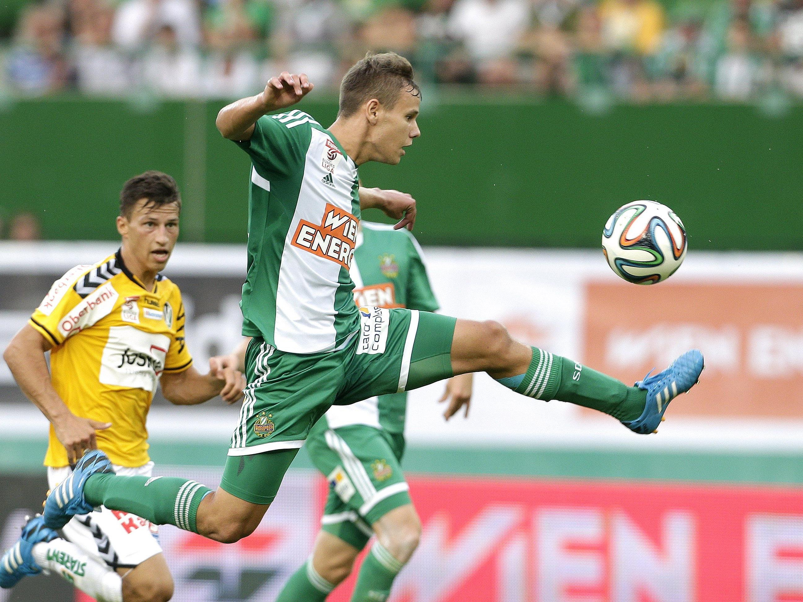Rapid Wien muss nach 1:0-Sieg über Ried weiterhin an der Chancenauswertung arbeiten.