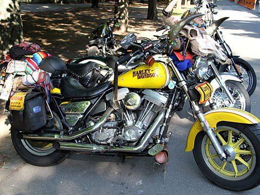 Vienna Harley Days: Eines von vielen stylishen Bikes in der Prater Hauptallee