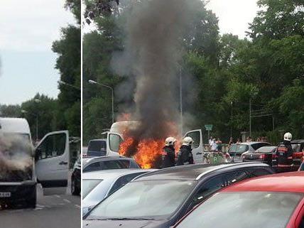 VIENNA.AT Leserreporter beobachtete Brand in der Donaustadt