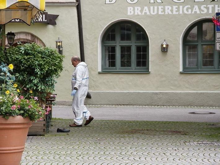 Der erste Tatort in der Poststraße in Bad Reichenhall. Hier wurde der Pensionist erschlagen und ausgeraubt.
