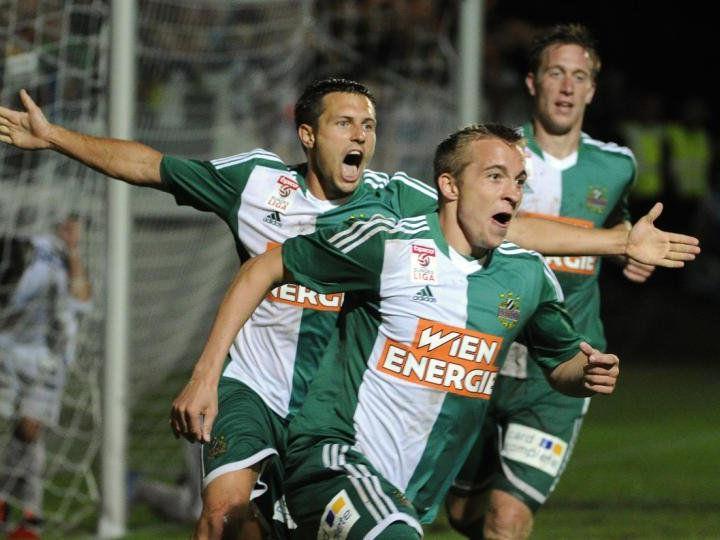 Rapid geht mit viel Vorfreude in das Spiel gegen Salzburg,
