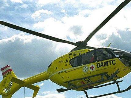 Mit dem Rettungshubschrauber wurde der Schwerverletzte nach Wien gebracht.