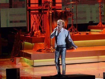Rod Stewart bei seinem Konzert in der Wiener Stadthalle.