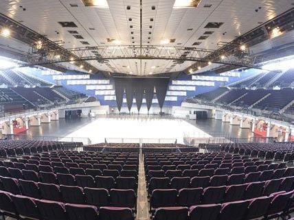 Die Stadthalle bietet ideale Bedingungen für den ESC.