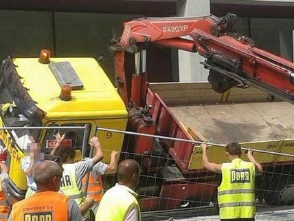 Glücklicherweise wurde bei dem Unfall im 21. Bezirk niemand verletzt.