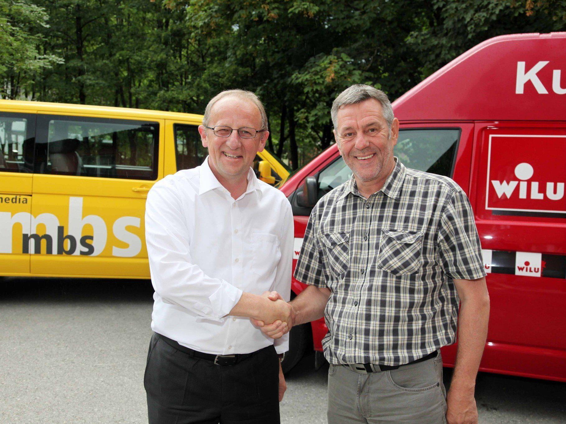 mbs-Vorstandsdirektor Bertram Luger (l.) und der bisherige WILU-Mehrheitseigner Peter Wieser (r.)