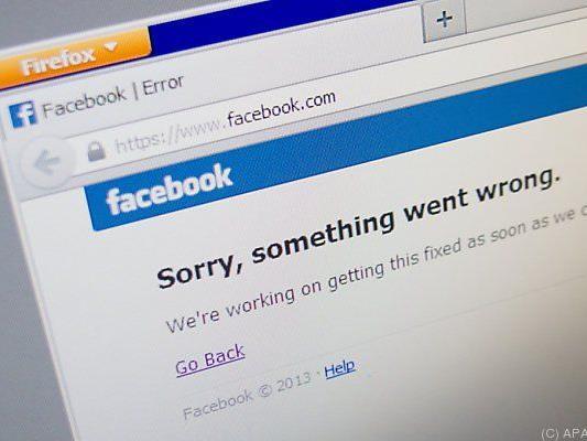 Auch Facebook kann einmal Aussetzer haben