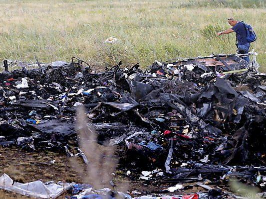 Absturz nahe der Stelle des MH17-Unglücks